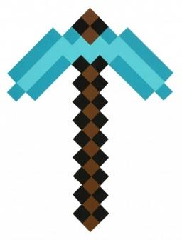 Minecraft Кирка Алмазная пиксельная 45см
