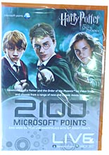 Live 2100 points Harry Potter & Order Phoenix(EUR)