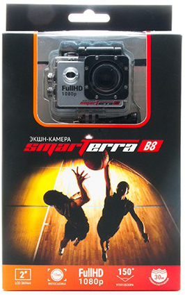 Экшн камера Smarterra B8 (серебристая)