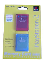 Memory Card 8MB TwinPack Red&Blue /Sony/