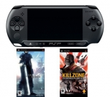 PSP-E1004 CB + Killzone + Final Fantasy VII: Crisis Core