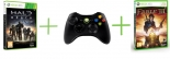 Fable III + Halo Reach + Controller Wireless R (Xbox 360)