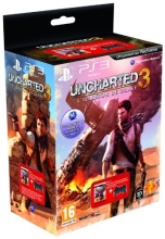 Controller Wireless Dual Shock 3 Black + Uncharted 3