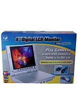 8'' Digital LCD Monitor Silver