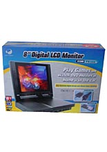 8'' Digital LCD Monitor Black