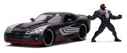 Машина с фигуркой Hollywood Rides – 2008 Dodge Viper SRT10 W/Venom Figure (масштаб 1:24) (Marvel) (31750)