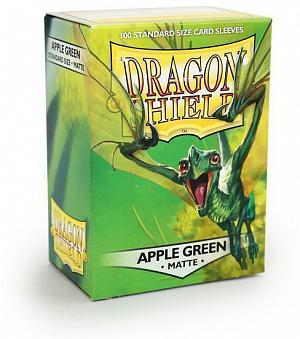 Протекторы для карт Dragon Shield (100 шт.): цвет - ярко-зеленый матовый фото