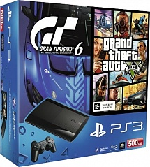 Playstation 3 500Gb + Gran Turismo 6 + Grand Theft Auto 5