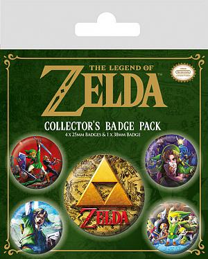 Значки Pyramid (набор 5 шт.) – The Legend Of Zelda (Classics) фото