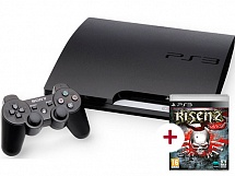 PlayStation 3 160 GB + игра Risen 2. Dark Waters (русская версия)