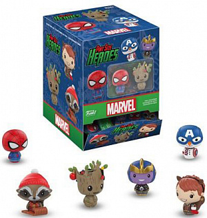 Фигурка Funko Pint Size Heroes: Marvel Holiday: 24PK PDQ 34447 фото