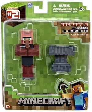 Фигурка Minecraft Blacksmith Villager Кузнец с аксессуарами 8см