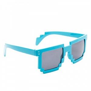 Minecraft Очки пиксельные солнечные (синие)