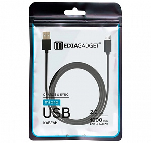 USB-кабель Media Gadget U-MCU12P: 2.0 USB – micro USB 1м. (черный) фото