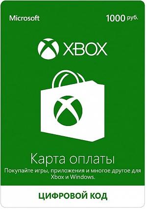 Xbox LIVE: карта оплаты 1000 рублей от GamePark.ru