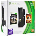 Microsoft Xbox 360 Slim (250 Gb) + Halo Reach + Fable III - (Уценка)