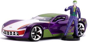 Машина с фигуркой Hollywood Rides – 2009 Chevy Corvette Stingray Concept W/Joker Figure (масштаб 1:24) (31199)