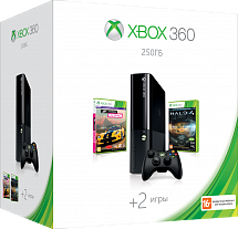 Xbox 360 250 Gb + Forza Horizon + Halo 4