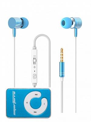 Стереогарнитура Smarterra XQ-700MVC (голубой) + MP3 плеер Smarterra Ska Blue