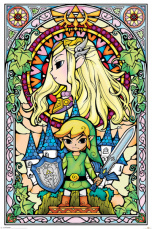 Постер Maxi Pyramid Nintendo – The Legend Of Zelda (Stained Glass) (PP33735)