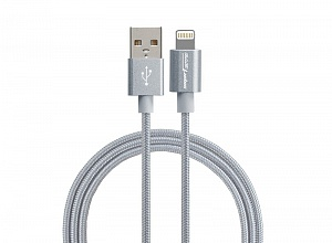 USB-кабель Smarterra STR-AL002M (1м, нейлон, серый)