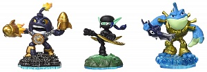 Набор из 3 фигурок Skylanders Imaginators №3 (Countdown/Stealth Elf/ Riptide).