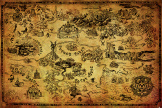 Постер Maxi Pyramid – The Legend Of Zelda (Hyrule Map) (61 x 91 см)