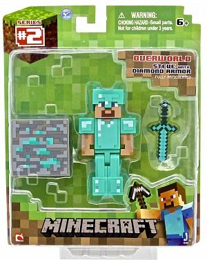 Фигурка Minecraft Diamond Steve с аксессуарами 8см