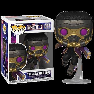 Фигурка Funko POP! Bobble Marvel What If T'Challa Star-Lord 55812 (56938)