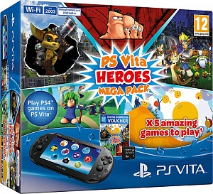 PS Vita Slim Wi-Fi Heroes Mega Pack + Memory Card 8Gb