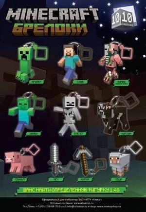 Minecraft брелоки 10 см