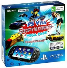PS Vita Wi-Fi + 3G Спорт и Гонки Mega Pack + 16 GB Memory Card