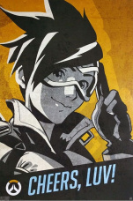 Постер ABYstyle Overwatch – Tracer Cheers Luv Poster (91.5x61) (ABYDCO443)