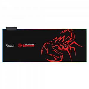 Коврик для мыши с подсветкой RGB Marvo MG010 (XL) (PC) фото
