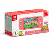 Игровая приставка Nintendo Switch Lite (кораллово-розовая) + код загрузки Animal Crossing: New Horizons + NSO на 3 месяца