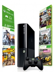 Xbox 360 250 Gb + Forza Horizon + Borderlands 2 + GTA V + Battlefield 4 + Assassin Creed IV + Live 3 месяца.
