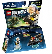 LEGO Dimensions Fun Pack - Back to the Future (Doc Brown, Traveling Time Train)