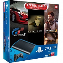 Playstation 3 500Gb + Heavy Rain + Gran Turismo 5 + Uncharted 3