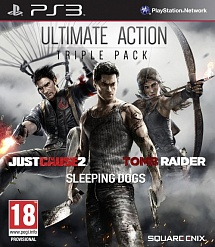 Ultimate Action Triple Pack (Just Cause 2, Sleeping Dogs, Tomb Raider) (английская версия, PS3)