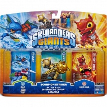 Skylanders Giants. Zap, Hot Dog, Capapult