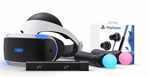 Шлем виртуальной реальности VR + Камера + 2 Контроллера Move + Стерео наушники