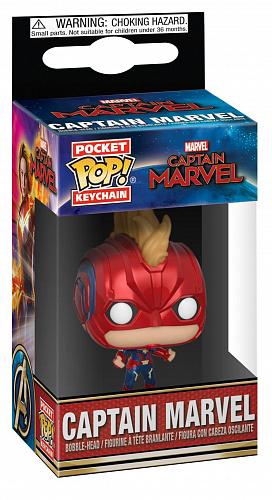 Брелок Funko POP Marvel – Captain Marvel: Captain Marvel (with Helmet) фото