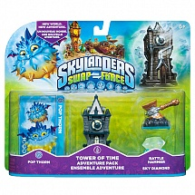 Skylanders Swap Force. Pop Thorn, Tower of Time, Sky Diamond, Battle Hammer