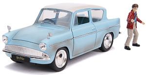 Машина с фигуркой Hollywood Rides – Harry Potter: Harry Potter & 1959 Ford Anglia (масштаб 1:24) (31127)