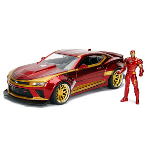 Машина с фигуркой Hollywood Rides – 2016 Chevy Camaro SS Widebody W/Ironman Figure (масштаб 1:24) (99724)
