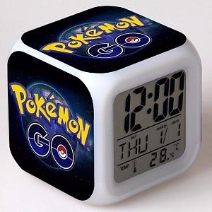 Часы настольные пиксельные с подсветкой Pokemon Go