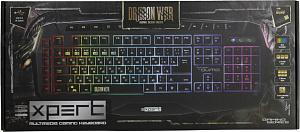 Клавиатура Qumo Expert K42, проводная, 104 + 18 клавиш, зональная RGB подсветка, ПО, плетеный кабель фото