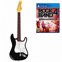 PS4 Комплект для Rock Band 4 (игра + гитара) Wireless Fender Stratocaster (RB491268ES02/02/1) (PS4)