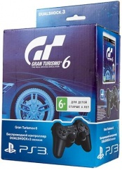 Controller Wireless Dual Shock 3 Black + Gran Turismo 6