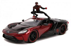 Машина с фигуркой Hollywood Rides – 2017 Ford GT W/Miles Morales Figure (масштаб 1:24) (31190)